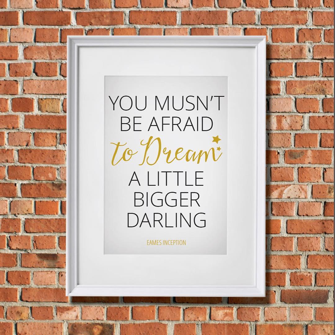 Dream a little bigger this MotivationMonday! QOTD