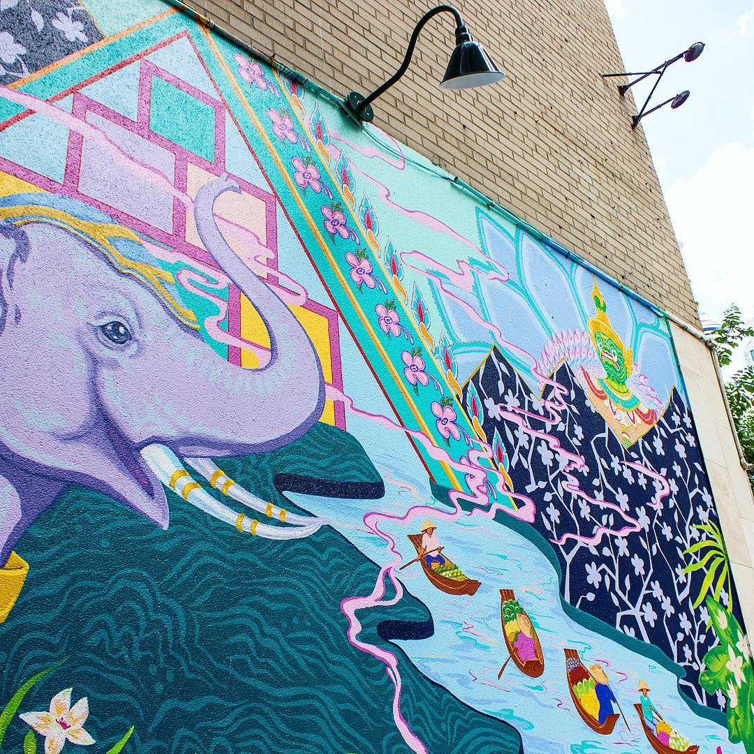 Whats not to love about this vibrant mural on thehellip
