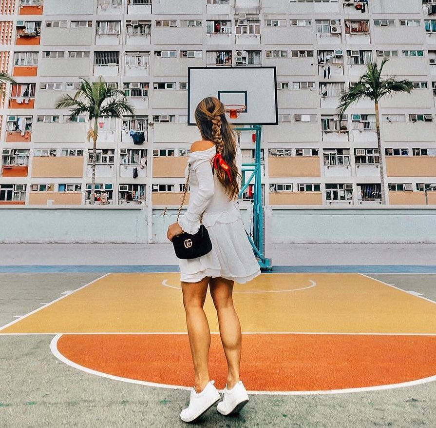 Shooting hoops with eccoshoes! Gotta say thenewgirldar takes style tohellip